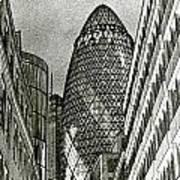 The Gherkin London Art Print