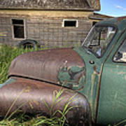 Vintage Farm Trucks Art Print