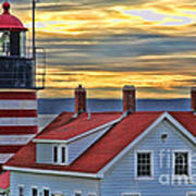 West Quoddy Head Lighthouse 3822 Art Print