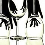 Wine Glasses  Art Print by Blink Images