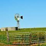 Windmill Water Pump Art Print