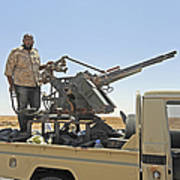 A Free Libyan Army Pickup Truck Print by Andrew Chittock