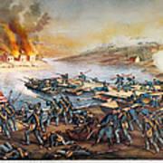 Battle Of Fredericksburg Art Print