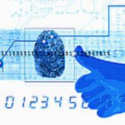 Fingerprint Scanning Art Print