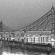 Albert Bridge London Art Print