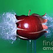 Bullet Hitting An Apple Art Print