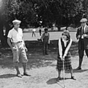 Silent Film Still: Golf Art Print