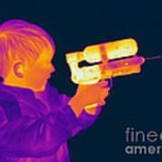 Thermogram Of A Boy Art Print