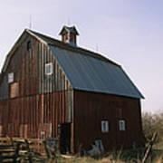 A Barn On A Farm In Nebraka Art Print