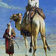 A Bedoueen Family In Wady Mousa Syrian Desert Art Print
