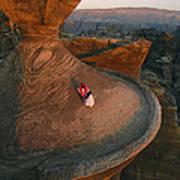 A Bedouin Surveys The View Art Print