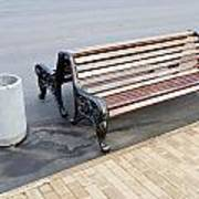 A Bench To Rest In A Public City Park Art Print