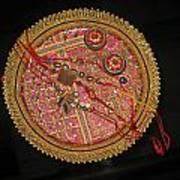 A Bowl Of Rakhis In A Decorated Dish Art Print