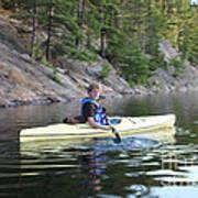 A Boy Kayaking Art Print