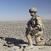 A British Army Soldier On A Foot Patrol Art Print