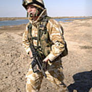 A British Army Soldier On Patrol Art Print