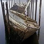 A Broken Boat Art Print