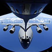 A C-17 Globemaster IIi Receives Fuel Art Print by Stocktrek Images