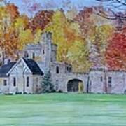 A Castle In Autumn. Art Print