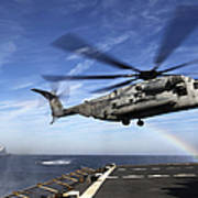 A Ch-53e Super Stallion Prepares Art Print