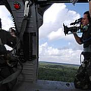 A Cinematographer Videotapes A Soldier Art Print