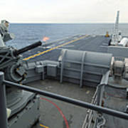 A Close-in Weapons System Fires Aboard Art Print