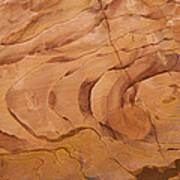 A Close View Sandstone Rocks Of Petra Art Print
