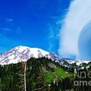 A Cloud Near Mt Rainer  Art Print