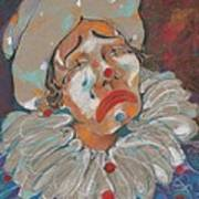 A Clown Face Art Print by Mary Armstrong
