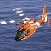 A Coast Guard Hh-65a Dolphin Rescue Art Print by Stocktrek Images