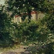 A Corner Of The Garden In Rueil Art Print