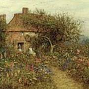 A Cottage Near Brook Witley Surrey Art Print