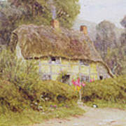 A Country Cottage Art Print by Helen Allingham