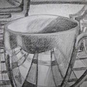 A Cup Of Reflections Art Print
