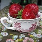 A Cup Of Strawberries Art Print