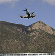 A Cv-22 Osprey Flies Over The 2007 Art Print