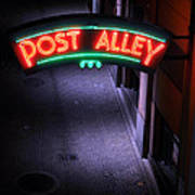 A Dark And Lonely Post Alley - Seattle  Art Print