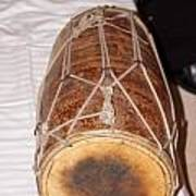 A Dholak Which Is A Musical Instrument  Art Print