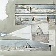 A Diagram Examines Photographs Print by Richard Schlecht