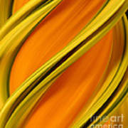A Digital Streak Image Of A Squash Art Print