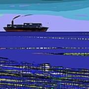 A Distant Ship Art Print