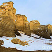 A Dusting On Monument Rocks Art Print