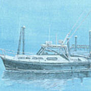 A Fortier Docked In Maine Art Print