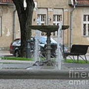 A Fountain In Silute Lithuania Art Print