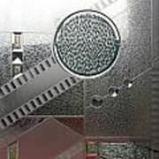 A Frosted Glass Window With An Interesting Pattern Art Print