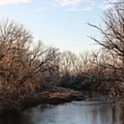 A Frosty Morning On The Elkorn Creek Art Print