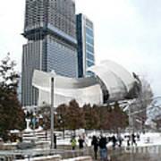 A Gehry Winter Art Print
