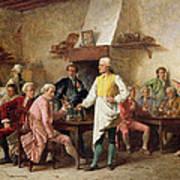A Gentleman's Debate Art Print by Benjamin Eugene Fichel