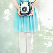 A Girl And Her Camera Art Print