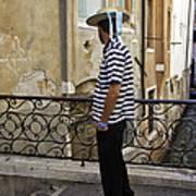 A Gondolier In Venice Art Print